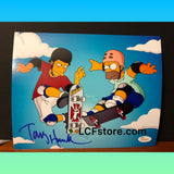 Tony Hawk Autograph Bart Simpson 8x10 Photo