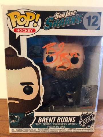 San Jose Sharks Brent Burns autograph POP!