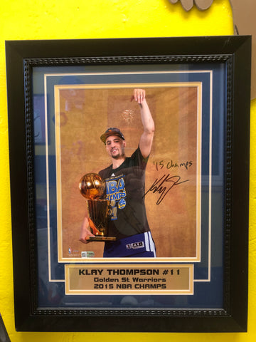Golden State Warriors Klay Thompson autograph photo