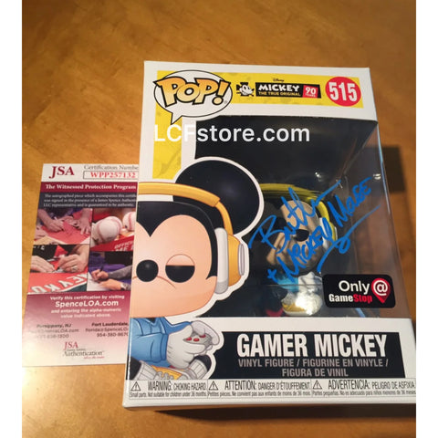 Gamer Mickey Gamestop Exclusive Funko POP! Signed by Bret Iwan