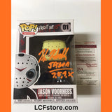 Kane Hodder Autograph Jason Voorhees Funko POP