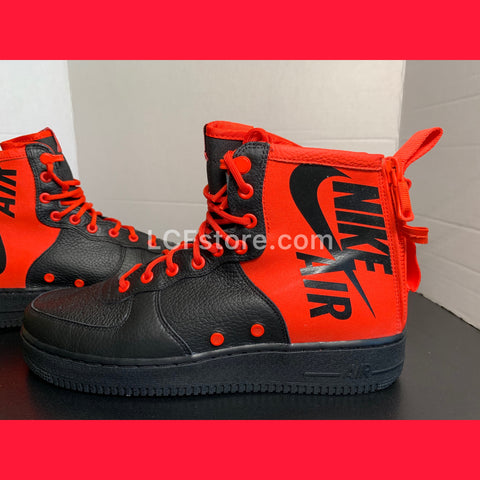 Nike SF Air Force 1 Mid 'Habanero Red Black'