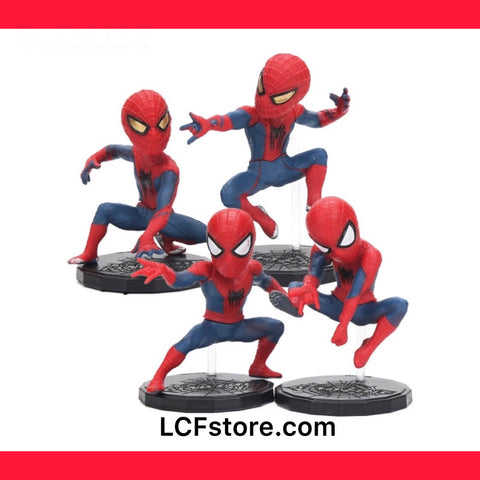 Set of 4 Spider-Man Action Figure Statue