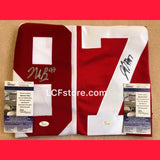 Nick and Joey Bosa Ohio State Buckeyes Dual Signed Jersey