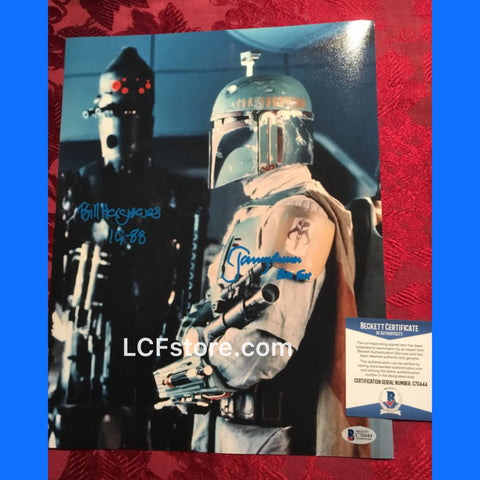 Jeremy Bulloch and Bill Hargreaves Signed Photo