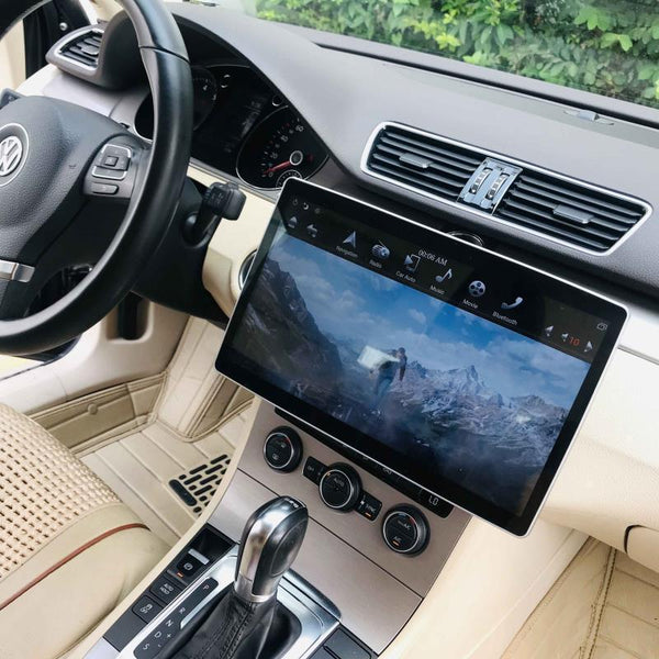 "12.8"" Six-core Universal double din head unit 100° Rotation Screen Android 9 Navigation Radio"