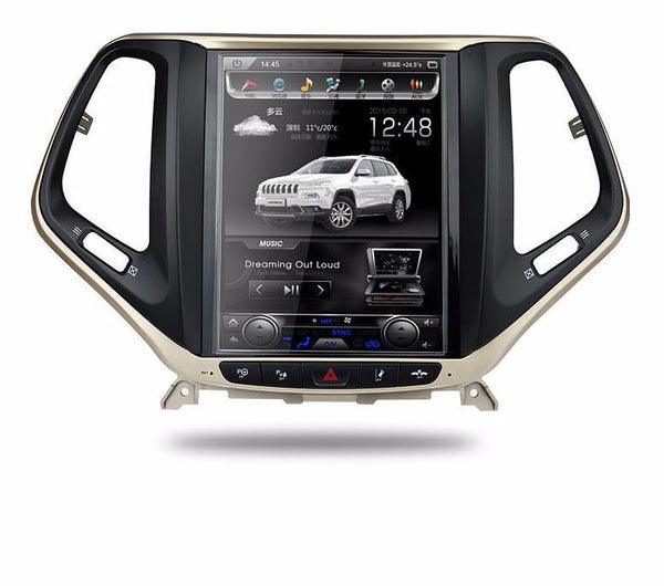 "【PX6 six-core】10.4"" Vertical Screen Android Navigation Radio for Jeep Cherokee 2014 - 2019"