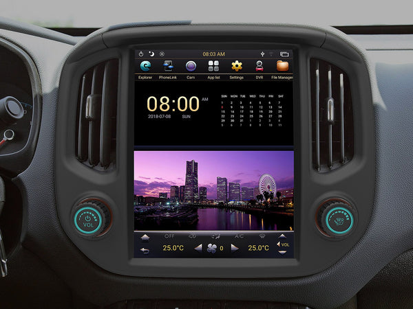 "12.1"" Android 7.1 Fast Boot Vertical Screen Navigation Radio for Chevrolet Colorado GMC Canyon 2015 - 2018"