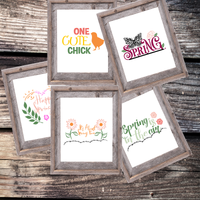 Free Spring Printable Wall Hangings (5 pages)