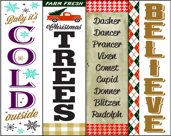 Festive Holiday Bookmarks
