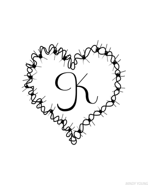 Barbed Wire Printable Monograms
