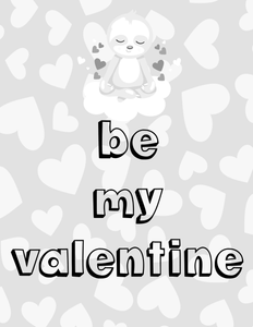 Be My Valentine Coloring Sheet