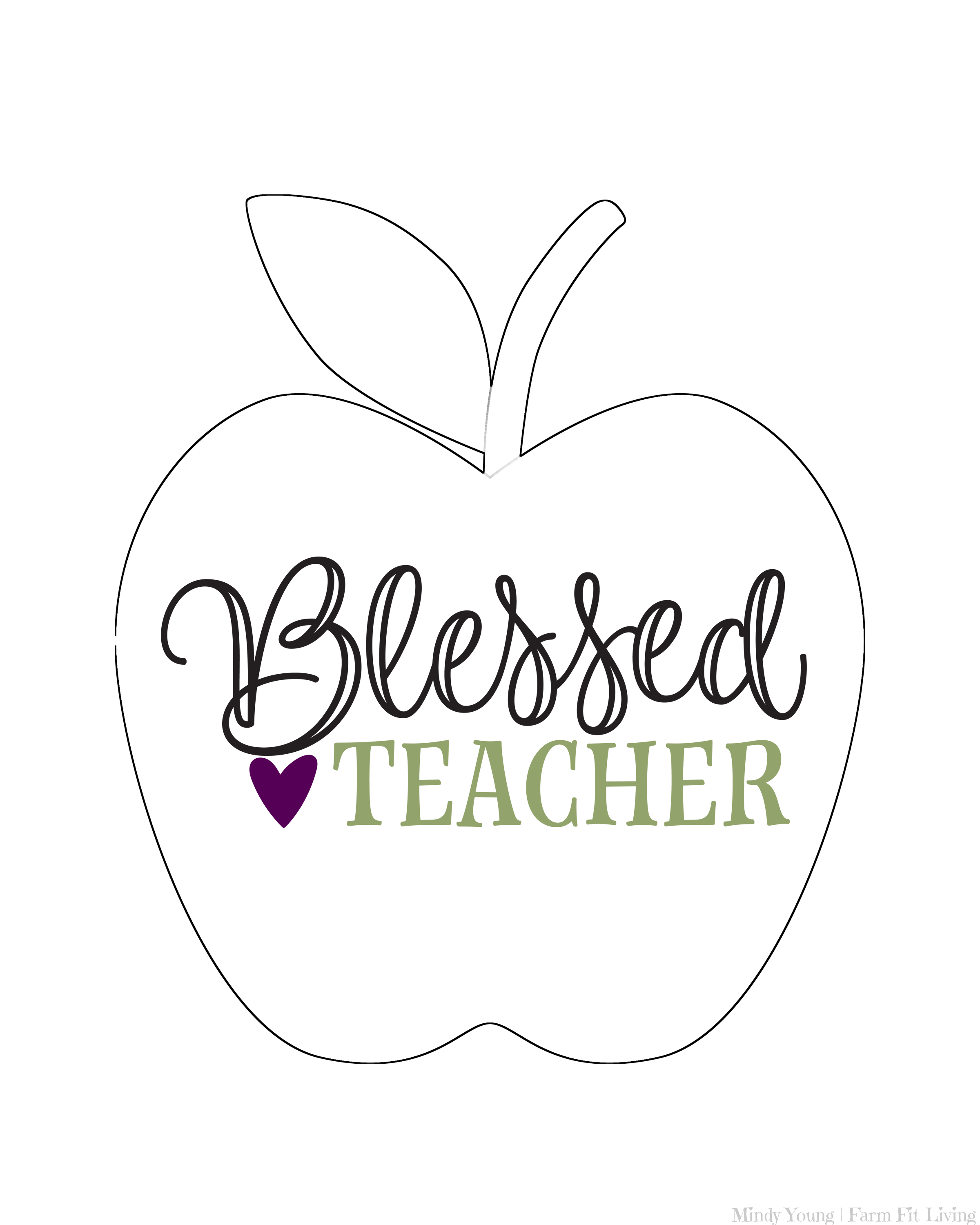 Blessed Teacher Printable