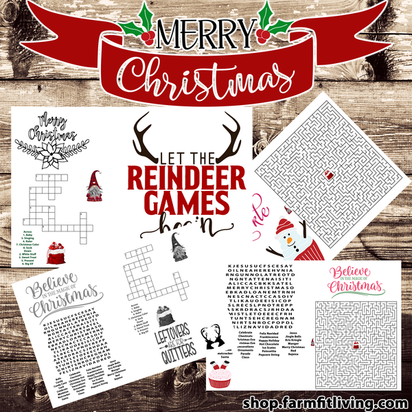 Free Christmas Activity Place Mats {4 Place Mats}
