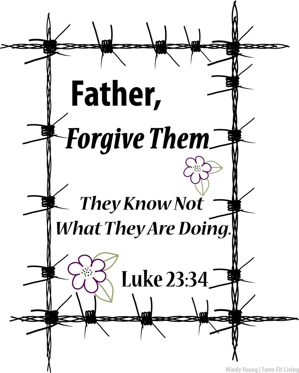 Luke 23:34 Forgive Them Wall Hanging