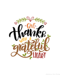 Give Thanks with a Grateful Heart Wall Hanging