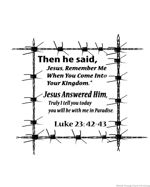 Luke 23: 42-43 Jesus Remember Me Wall Hanging