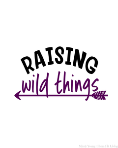 Raising Wild Things Mother's Day Printable Wall Hanging