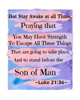 Luke 21 Stay Awake Wall Hanging