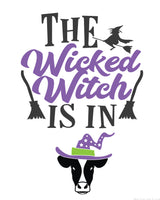 The Wicked Witch Is In Halloween Door Sign {1-Page}