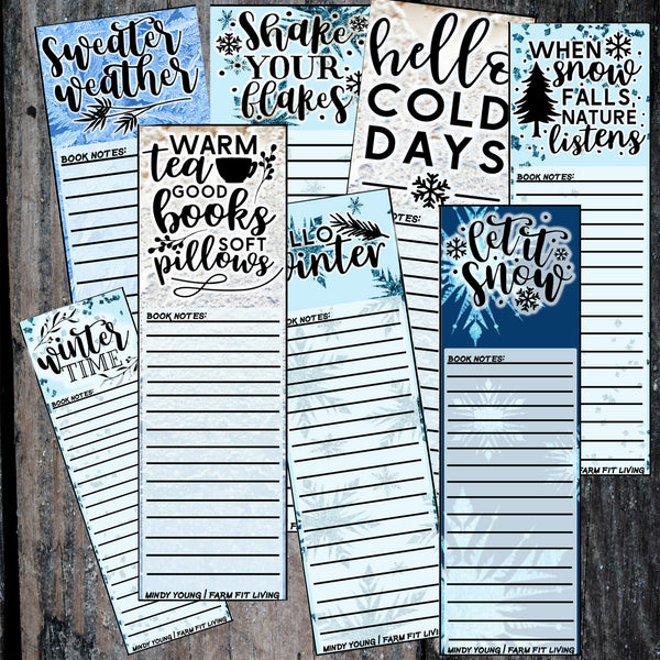 Winter Bookmarks Collection {8 Bookmarks!}