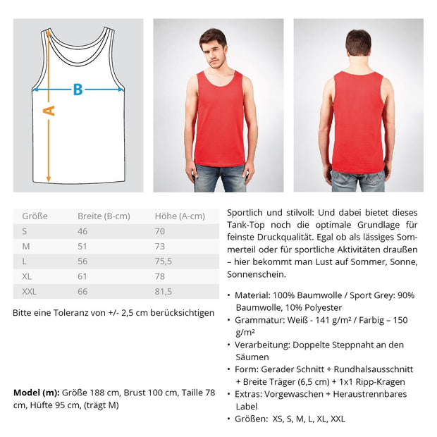 WEEKEND FORECAST BASKETBALL WITH A CANCEL OF DRINKING  - Herren Tanktop - Shirt Exklusive