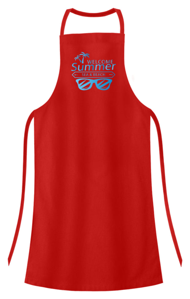 WELCOME SUMMER SEA AND BEACH  - Hochwertige Grillschürze - Shirt Exklusive