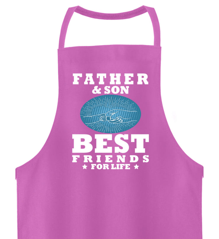 Father & Son - Best Friends for life  - Hochwertige Grillschürze - Shirt Exklusive