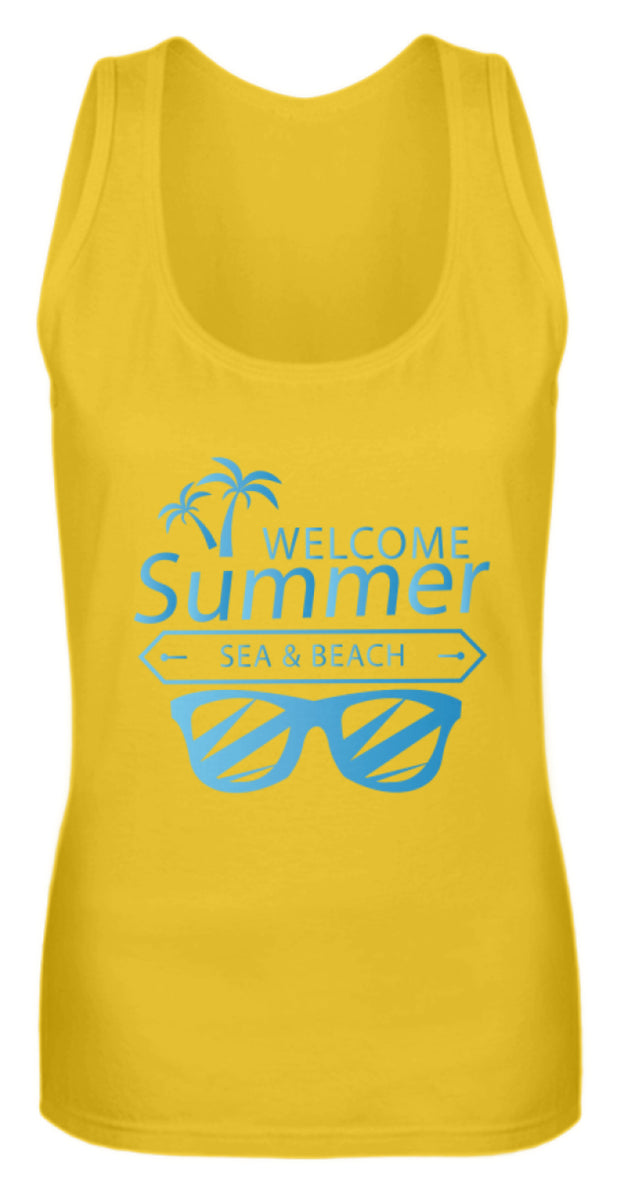 WELCOME SUMMER SEA AND BEACH  - Frauen Tanktop - Shirt Exklusive