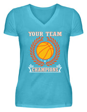 YOUR TEAM CHAMPIONS  - V-Neck Damenshirt - Shirt Exklusive