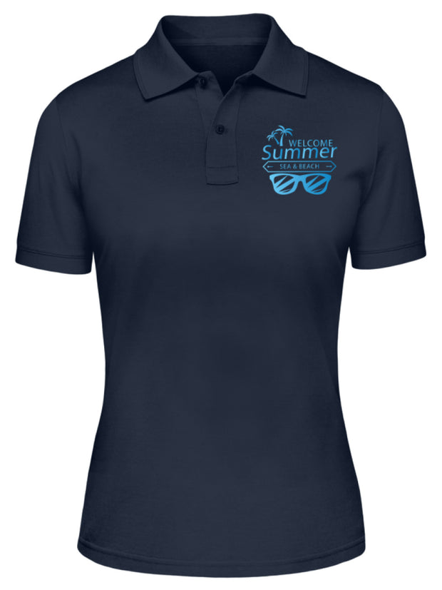 WELCOME SUMMER SEA AND BEACH  - Damen Poloshirt - Shirt Exklusive
