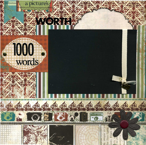 A Picture's Worth 1000 Words - 12x12 Premade Scrapbook Page