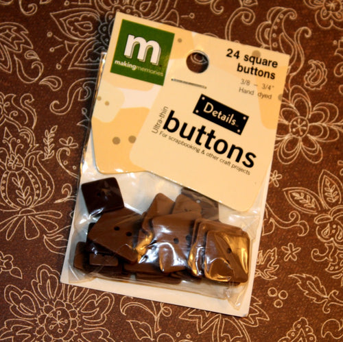 Square Buttons - Brown