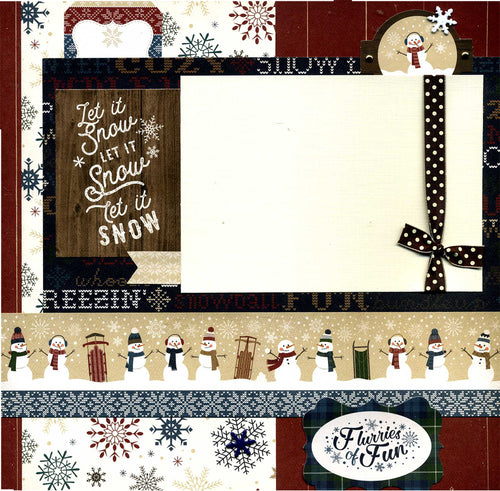 Tis the Season To Be Freezin' - 12x12 Premade Winter Scrapbook Page