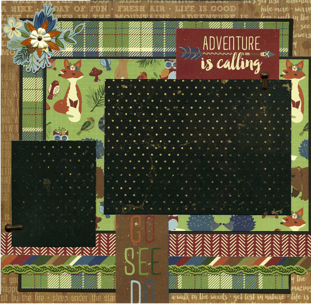 Adventure Is Calling - Premade Scrapbook Page