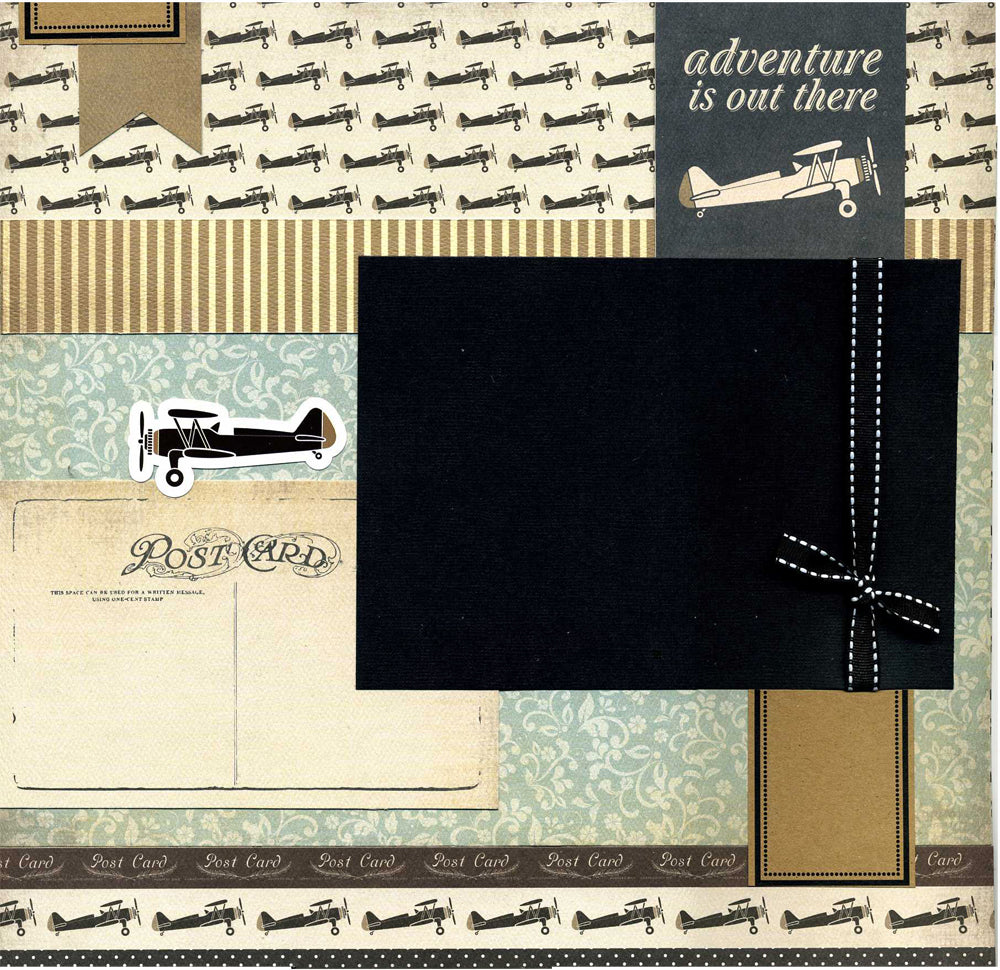 Adventure Is Out There - Premade Scrapbook Page