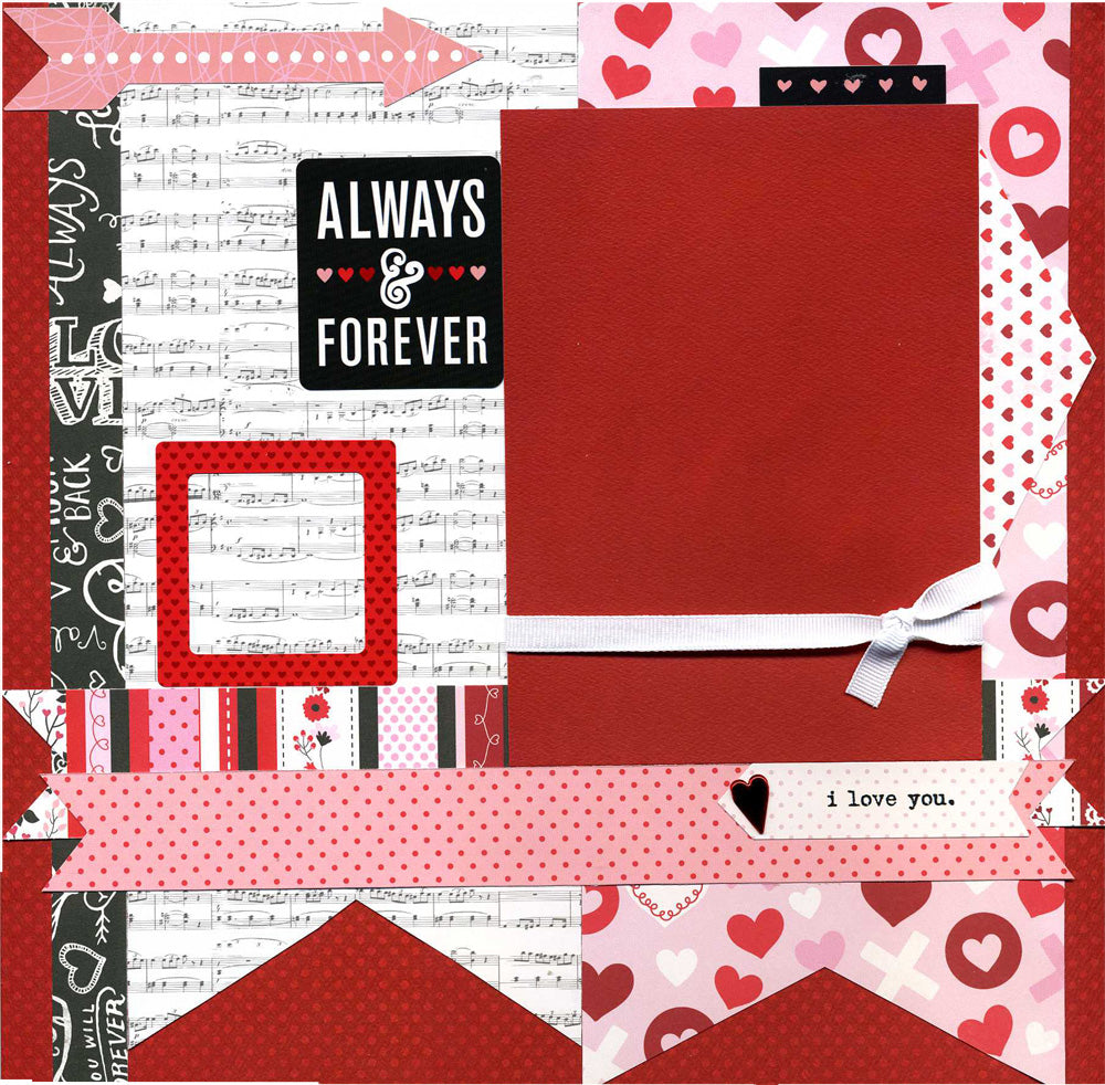 Always & Forever - 12x12 Premade Scrapbook Page