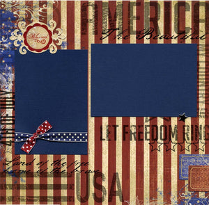 America the Beautiful - 12x12 Premade Scrapbook Page