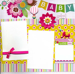 Baby Girl - 12x12 Premade Scrapbook Page