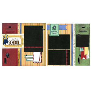 Back To School - Two 12x12 Premade Scrapbook Pages