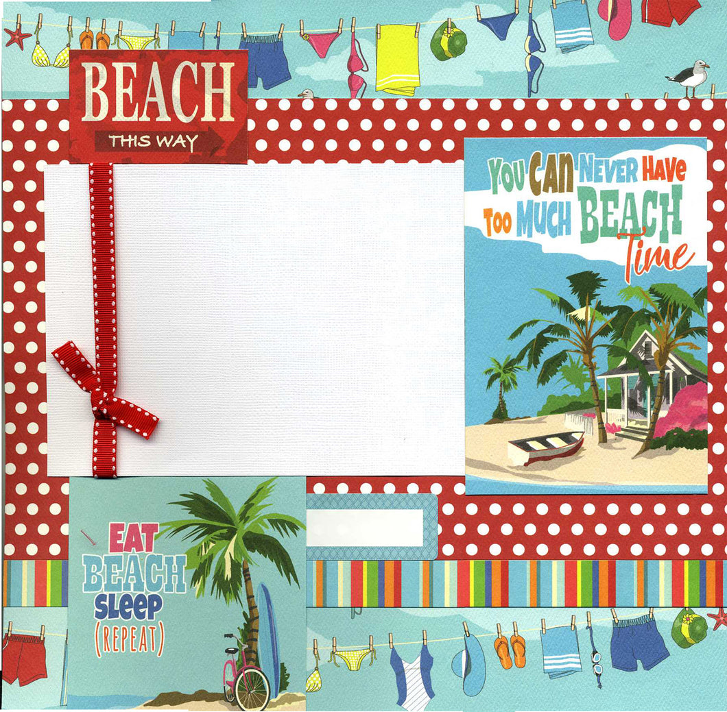 Beach This Way - Premade Scrapbook Page
