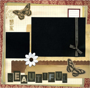 Beautiful - 12x12 Premade Scrapbook Page