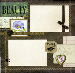 Beauty - 12x12 Premade Scrapbook Page