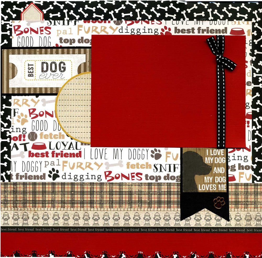 Best Dog Ever - 12x12 Premade Dog Scrapbook Page