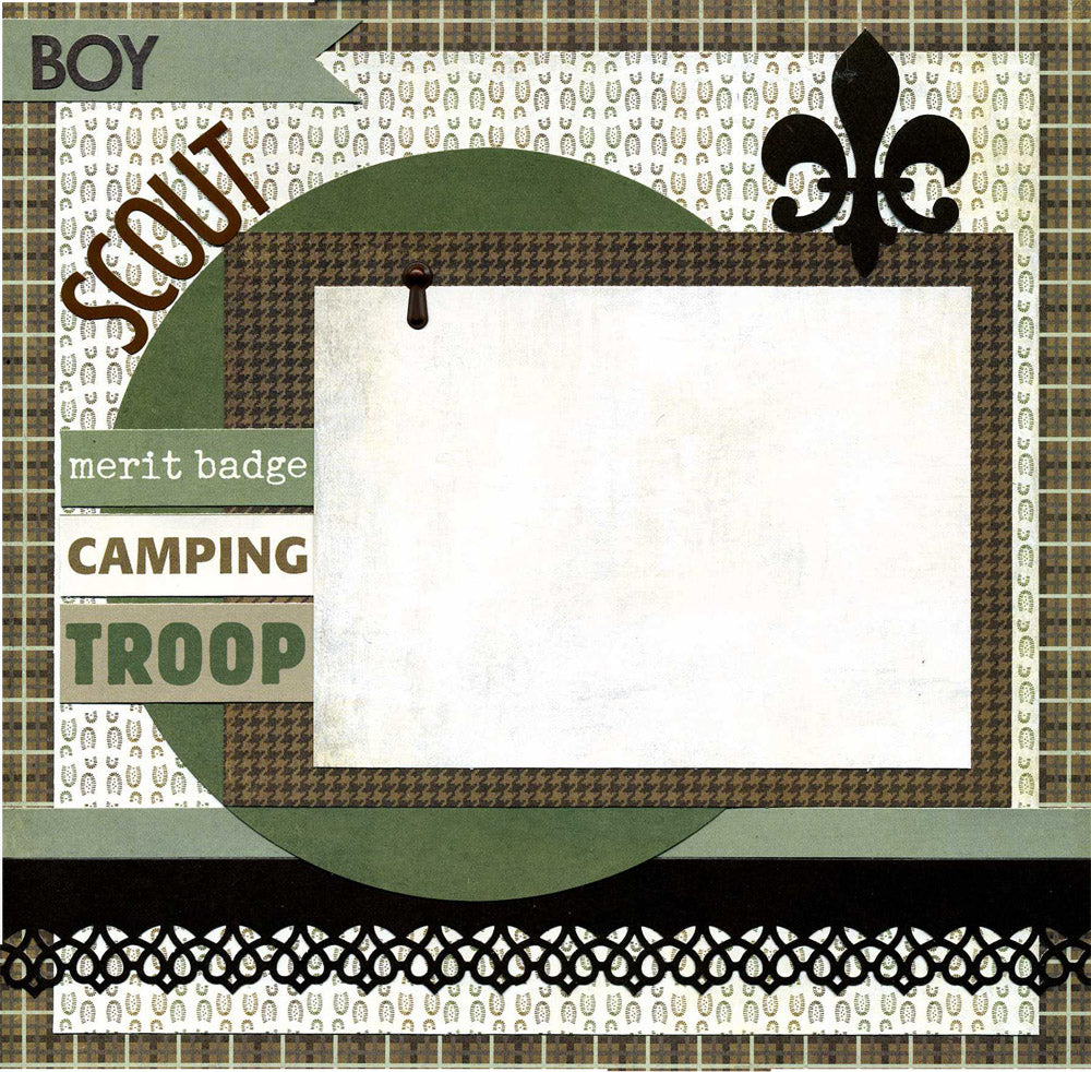 Boy Scout - Premade Scrapbook Page