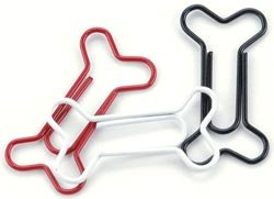 Bone Clips - Red, White, Black