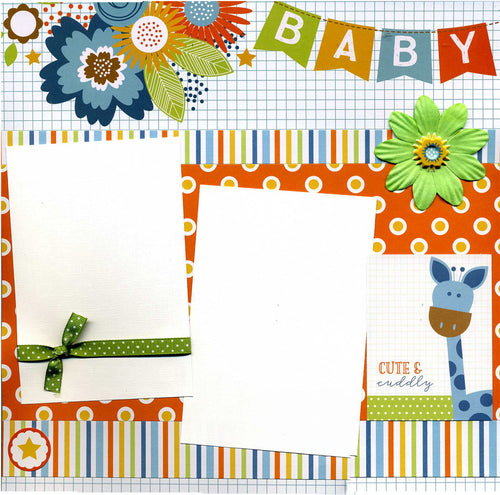 Cute & Cuddly - 12x12 Premade Baby Scrapbook Page