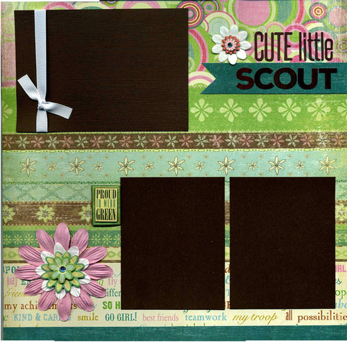 Cute Little Scout - Premade Scrapbook Page