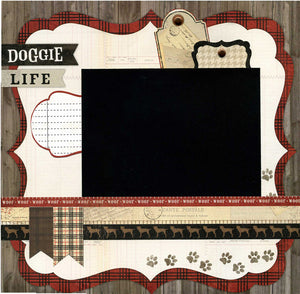 Doggie Life - 12x12 Premade Scrapbook Page