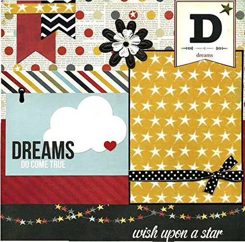 Dreams Do Come True - 12x12 Premade Scrapbook Page